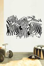 ZEBRA Children's bedroom nursery vinyl sticker wall transfer home art decor