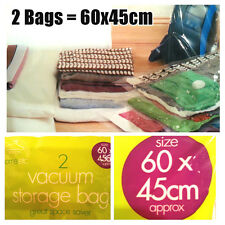 2 X Space Saving Storage Vacuum Bags Clothes Bedding Organised Under Bed Travel