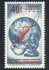 MEXICO 1962 medico/sanitario/MALARIA/Zanzare/Insetti/Microscopio/Mappa 1v (n39809)