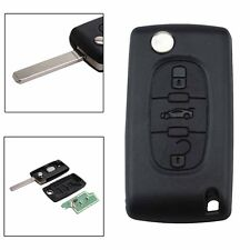 3 Button Flip Remote Locking Key Fob with Chip for Peugeot Citroen Berlingo