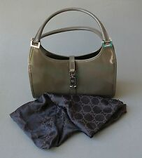 "Vintage Authentic GUCCI ""Jackie O"" Taupe Handbag Purse;C702"