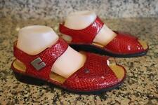 Finn Comfort Womens sandals - red Croc formal size 6 Germany (SAN100