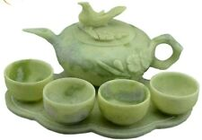 Antique Chinese jade teapot set