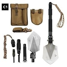 Military Survival Kit Camping Equipment Hiking Gear Emergency Multi Tool Shovel