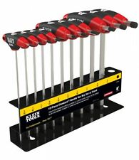 Klein Tool 10-Piece 6'' SAE Hex Driver Journeyman T-Handle Set T21198