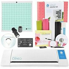 Silhouette CAMEO  Digital Cutting Machine Vinyl and Tools Starter Kit Bundle