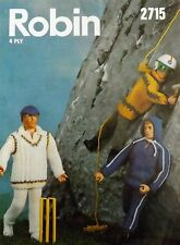 Vintage Knitting Pattern Doll/Toys Clothes Sports Outfits  Action Man Type R2715