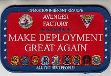 CVW-8 OIR MAKE DEPLOYMENT GREAT AGAIN 2017 CRUISE PATCH