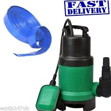 400w  Submersible Dirty Water Pump 10000 Litres Per Hour 10M X 25MM Layflat Hose