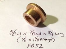 Oilite Flange Bushing Bronze 5/8 id x 7/8 od 5/8 Brass Bearing Shim Spacer Bush