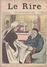 C1 LE RIRE # 24 Avril 1895 LEANDRE Comedie Francaise FAU Jules RENARD JEANNIOT