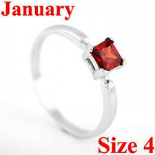 STERLING SILVER JANUARY BIRTHSTONE CZ CHILD RING SZ 4