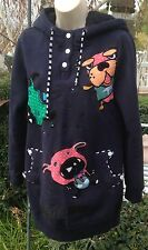 AZONA MEOW AO2 Curiosity Kills The Cat HOODIE SWEAT SHIRT Navy L Dogs Cats PETS