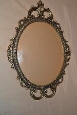 """17"""" Vintage Ornate Antique Brass Wall 12""""x 9"""" Picture Frame Bubble-Convex Glass"""