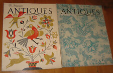 ~Vintage ANTIQUES Collector Magazines August & October 1947 Great Cover Art~