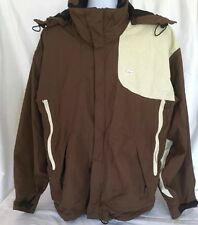 Foursquare GS System Snowboard Jacket Mens XL Brown Cream Vented Pass Holder