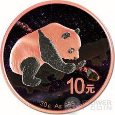 FUKANG Chinese Panda Atlas of Meteorites Silver Coin 10 Yuan China 2016
