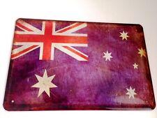 Australia Bandiera Segno Metallo Insegna Stagno Firmare 20 x 30 cm