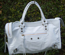 Borsa in pelle donna Bag leather genuine bianco bags big bianca made in italy