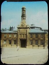 Glass Magic Lantern Slide FISH MARKET BOULOGNE C1910 FRANCE PHOTO