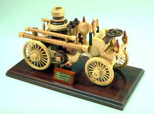 Woodworking plans for building a wood fire engine replica