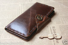 Genuine Leather Women's Long Style Wallet Mens Bifold Purse Credit Card Holder