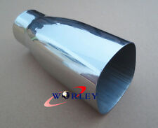 """2.3"""" inlet Stainless steel square rectangle angle cut Exhaust Tip tailpipe"""