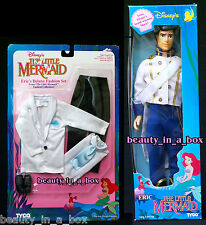 Prince Eric Doll & Eric's Deluxe Fashion Set Ariel Little Mermaid Tyco Disney