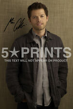 "SIGNED PP SUPERNATURAL MISHA COLLINS CASTIEL 12x8"" POSTER PHOTO PERFECT GIFT B"