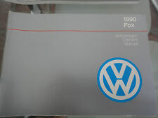 1990 Volkswagen Fox Owners Manual - PRISTINE CONDITION