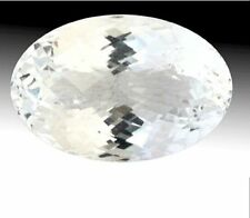 NATURAL WHITE SAPPHIRE  9x7  MM OVAL CUT DIAMOND COLOR