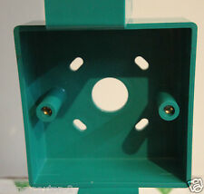 GREEN Moulded Pattress Surface Mount Back Box Single 1 Gang 32mm