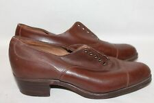 True Vintage 1930's-1940's ATS Real Leather Brown Shoes Childrens,Youths,Ladies