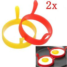 2pcs Kitchen Silicone Fried Egg Device Round Ring Cook Mould Modelling-Random xp