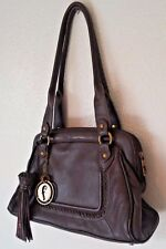 "F by FORTUNA ""VALENTINO"" Soft Brown Leather Tote
