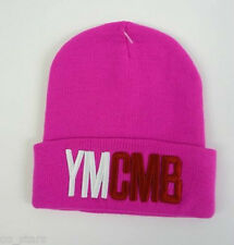 Vogue Geek YMCMB Noir Rouge Bleu Marine Rose Beanie Hat roll top fashion NERD Pride