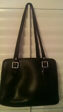 Vintage Coach Full-Grain Black Leather Classic Shoulder Bag - LOD-9163