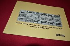 Curtiss Ayrshire Brown Swiss Guernseys Jersey 1979 Dealers Brochure YABE12