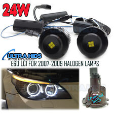 BMW E60 E61 LCI Facelift 2007.07 HALOGEN ANGEL EYES 24W LED HALO CREE WHITE
