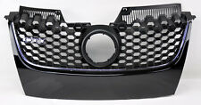VW Jetta & GTI MK5 06-09 Black w/ Chrome Honeycomb Hex Mesh Front Grill