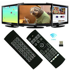 2.4GHz Backlit Air Mouse Qwerty Wireless Voice Keyboard Remote MX3 M8S M8 TV Box
