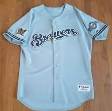 Milwaukee Brewers Majestic Authentic Road Jersey