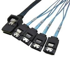 1M Mini SAS SFF-8087 36-PIN to 4 SATA 7-PIN HD Splitter Breakout Cable