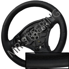 FOR TOYOTA VERSO 2009+ BLACK ITALIAN LEATHER STEERING WHEEL COVER BEST QUALITY