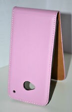 Pink Genuine Leather Real Leather Flip Case Cover Skin For HTC One 801s M7
