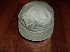 U.S MILITARY ARMY REPRODUCTION WWII HBT CAP SIZE LARGE HBT MATERIAL