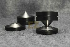4 pcs Speaker AMP Spike Cone & 4 Base Isolation Feet Improve Audio Sound Quality