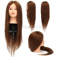 "100% Real Human Hair 26"" Salon Hairdressing Training Head Mannequin Practice New"