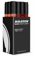 MOLOTOW BASIC SKETCHER MARKER - BROWN KIT - GRAPHIC ART TWIN TIPPED PENS