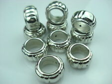10 Pcs silver CCB Acrylic jewelry scarf rings slide accessory